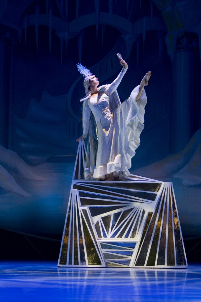 Amber Robbins as the Snow Queen (Photo by Tim Fuller)