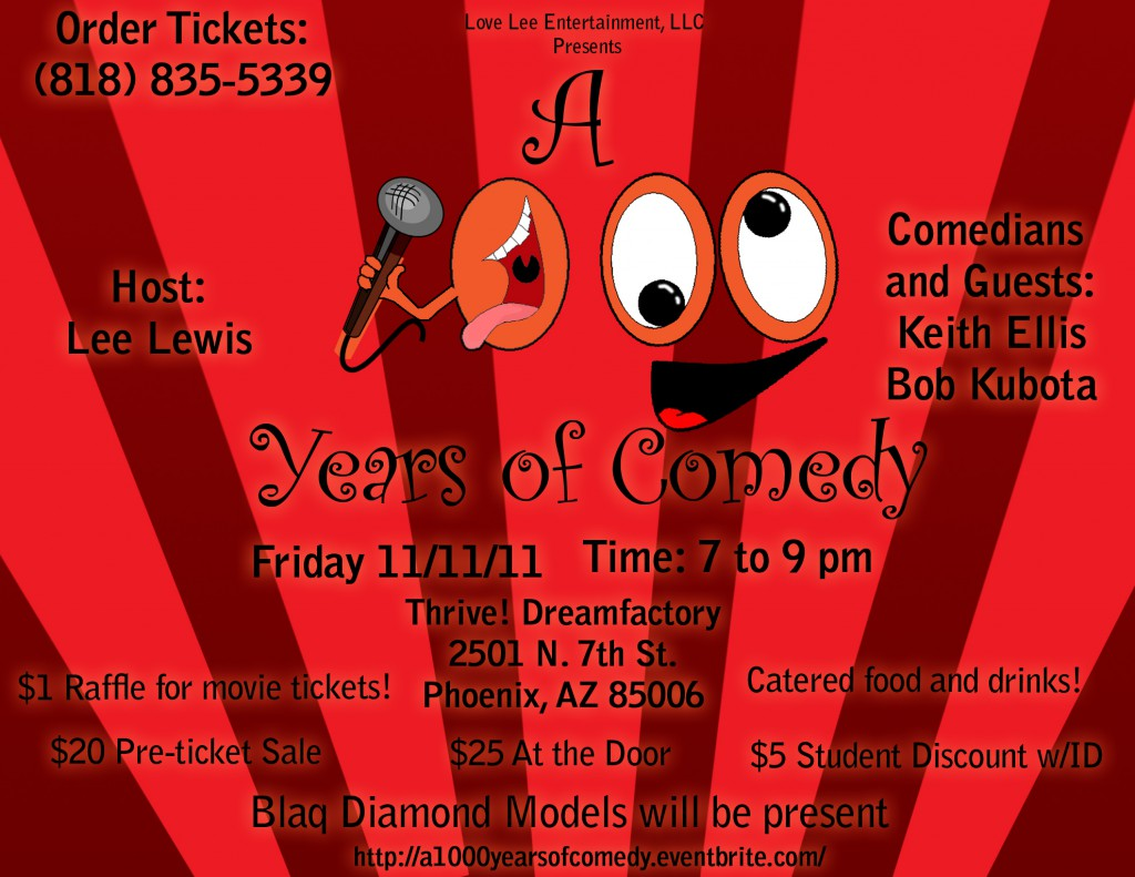 A 1000 Years of Comedy Flyer(2)