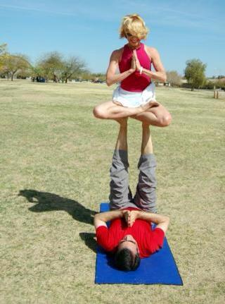 liisa and bill acro yoga
