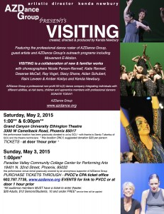 Concert May 2, 1pm and 6pm @ GCU Ethington Theater and May 3, 1pm @ PVCC CPA