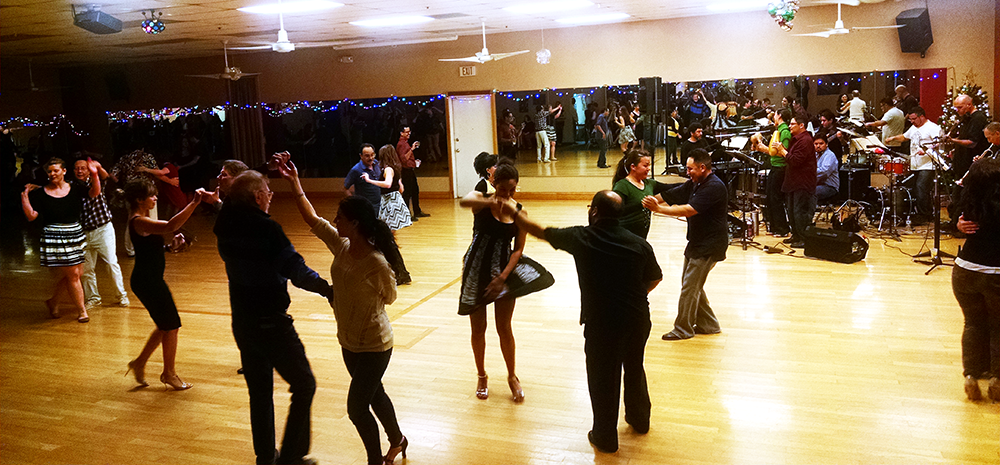 PCC Salsa dance students at their FINAL at the Sunday Salsa Social, hosted by Salson, at Shall We Dance, Tucson.