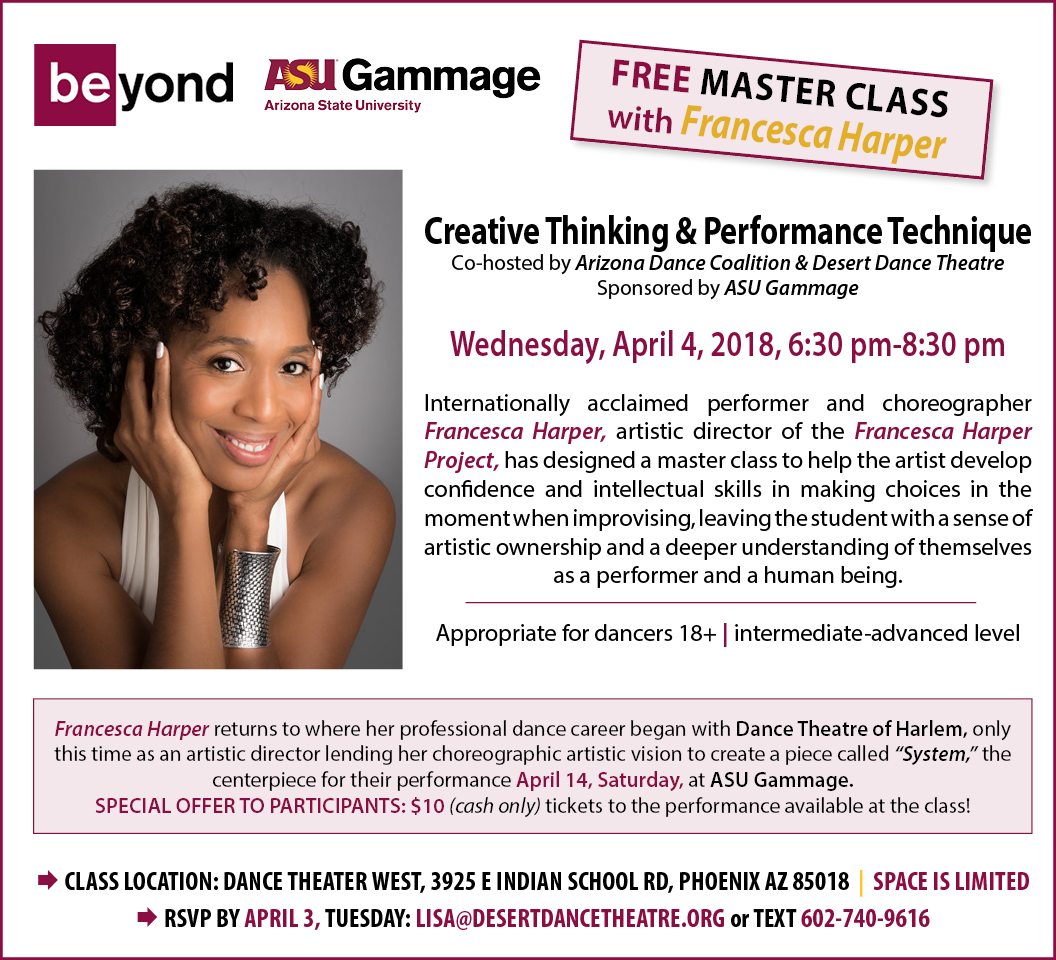 FREE Master Class Dance Theatre of Harlem's Francesca Harper PHX